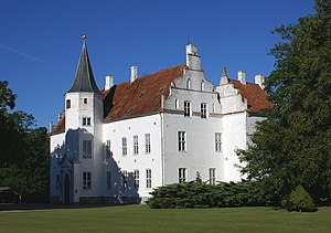 Skovsbo Castle - Skovsbo viewed from the south-west
