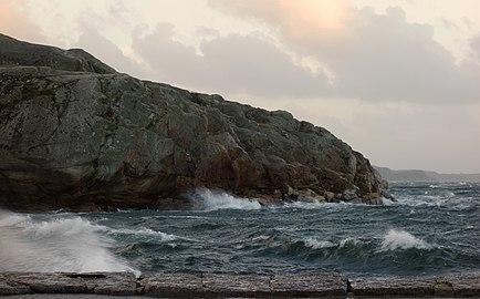 Släggö Lysekil during storm.jpg