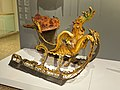 Sleigh, perhaps Germany, 1720-1750, painted and gilt wood, velvet, iron - Montreal Museum of Fine Arts - Montreal, Canada - DSC08967.jpg