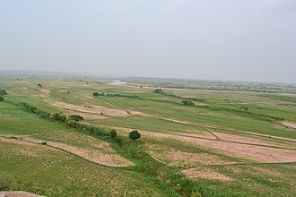 Archaeological sites in Pakistan - View of Soan valley and Soan River in background, near Adiala