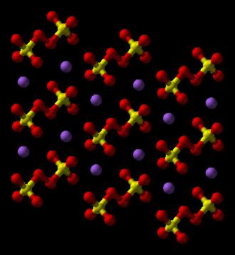 Sodium persulfate - Image: Sodium persulfate xtal 2006 3D balls