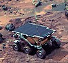 An image of Sojourner on Mars taken by its base station