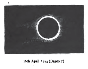 Solar Saros 117 - Image: Solar eclipse 1874Apr 16 Bright