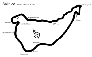 German motorcycle Grand Prix - Image: Solitude 1935 1965layout