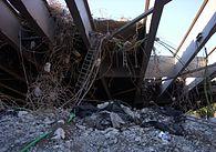 Den gamle Solnabros stålkonstruktion, 2008 og nedrivningen 2011.