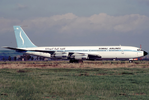 Somali Airlines - A Somali Airlines Boeing 707-320B at Fiumicino Airport (1989).