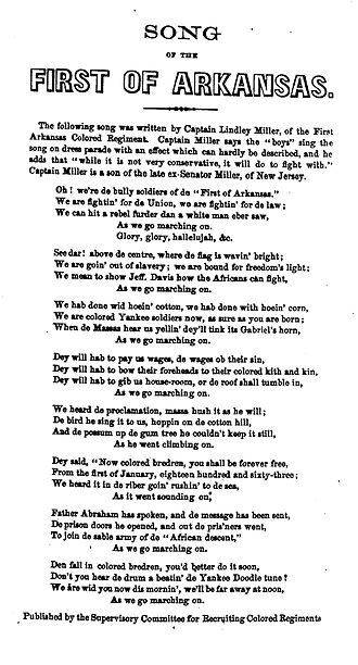 Marching Song of the First Arkansas - Song of the First of Arkansas, 1864