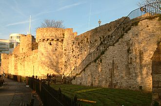 Southampton - Part of Southampton's Town Walls