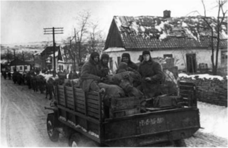 82nd Rifle Corps - Soviet troops entering Krivoy Rog in February 1944
