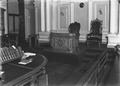 Speakers chair and desk in the Legislative Assembly at Queensland Parliament House Brisbane ca. 1934.tiff