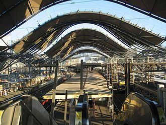 Southern Cross railway station - Work on the station in 2004