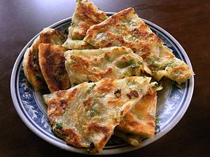 Cong you bing - Image: Spring onion pancake 2013