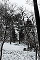 Square Samuel-de-Champlain (Paris) sous la neige, vu depuis l'avenue Gambetta 04.jpg