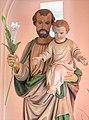 St. Joseph's Church, Cardiff - Statue of Saint Joseph with Jesus.jpg