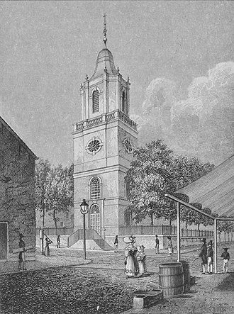 St. Peter's Church was the only Catholic church in New York City when Kohlmann became its pastor in 1808. St. Peter's Church, Barclay Street, New York City.jpg