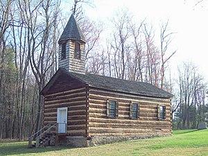 St. Severin's Old Log Church - Image: St. Severin's Old Log Church Apr 10