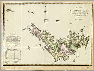 Saint Barthélemy - Historical quartiers (1801)