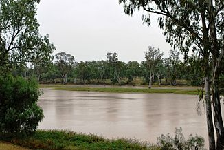 Balonne River in St. George im Südwesten von Queensland
