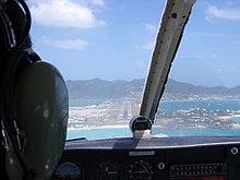 Approach to Princess Juliana Airport