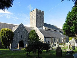 English: St Illtud, Llantwit Major, Glamorgan,...