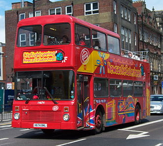 City Sightseeing - Northern Counties Palatine bodied Volvo Olympian in Newcastle-upon-Tyne in 2005