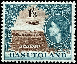 Postage stamps and postal history of Lesotho - A 1954 mint stamp of Basutoland.