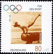 Stamp Germany 1996 Briefmarke Sport Carl Schuhmann