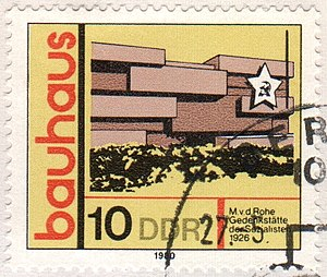 Stamp Ludwig Mies van der Rohe Revolutionsdenkmal