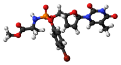 Ball-and-stick model of the stampidine molecule