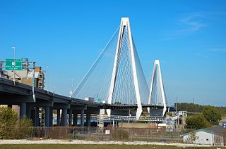 Stan Musial Veterans Memorial Bridge bridge across the Mississippi River at St. Louis