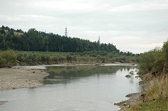 Dniester - Dnister's riverhead in Staryi Sambir (western Ukraine).