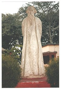 Statue of Rabindranath Tagore by K P Krishnakumar at Amar Kutir