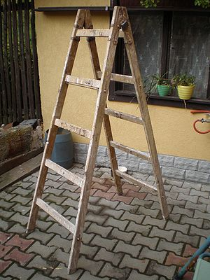 If the ladder is damaged or worn get a new ladder.