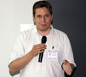OpenStreetMap - The founder of OSM, Steve Coast, in 2009.