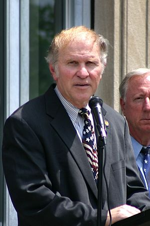 Steve Chabot - U.S. Representative Steve Chabot giving a speech at a Memorial Day ceremony in North College Hill, Ohio, May 27, 2006.