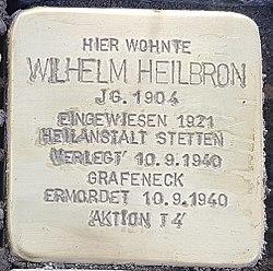Stolperstein Aalen Wilhelm Heilbron Bahnhofstraße 18.jpg