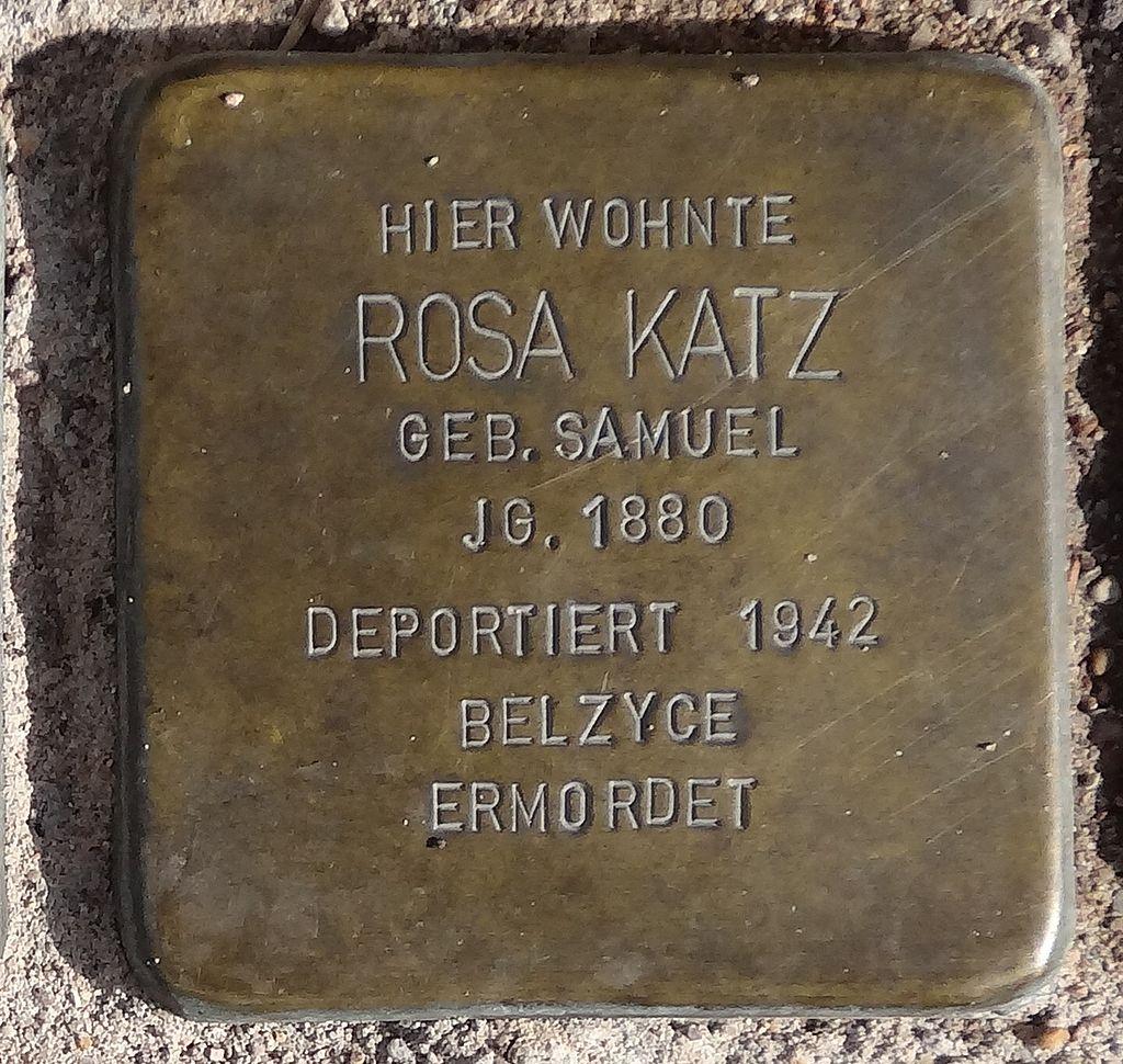 Stolperstein Arnstadt Karl-Marien-Straße 11-Rosa Katz.JPG
