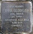 Stolperstein Württembergische Str 40 (Wilmd) Anna Glogauer.jpg