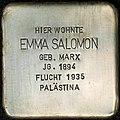 Stolpersteine Köln, Brüsseler Strasse 88, Stolperstein Emma Salomon.jpg