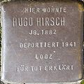 Stumbling block for Hugo Hirsch (Im Dau 12)