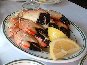 Florida stone crab - Prepared Florida stone crab claws