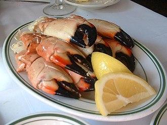 Florida stone crab - Prepared Florida stone crab claws