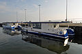 Stralsund, Hafen, Solarboote, by Klugschnacker in Wikipedia (2014-03-01) (1).JPG