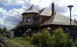 Old Strathcona - The 1908 Strathcona Railway Station, just south of Whyte Avenue in the centre of Old Strathcona.