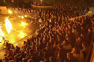 Performing arts - Modern street theatre performance in La Chaux-de-Fonds