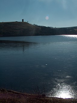 Strines Reservoir on a frosty day in March - geograph.org.uk - 1743852
