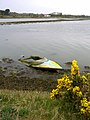 Submerged speedboat in Four Acre Pond, Normandy - geograph.org.uk - 161398.jpg