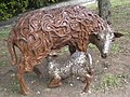 Suckling lamb carving, Grove Lane SE5 - geograph.org.uk - 1312997.jpg