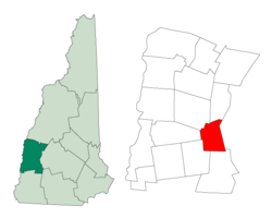 Location in Sullivan County, New Hampshire