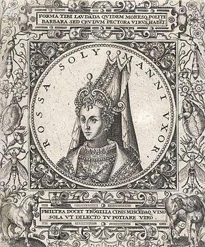 Johann Theodor de Bry - Portrait of Haseki Hürrem Sultan
